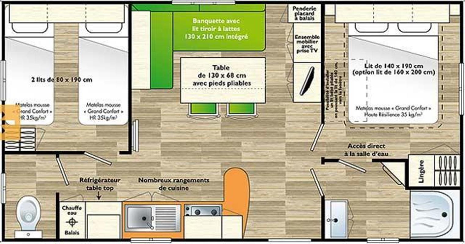 Mobilier De Mobil Home penestin camping pitches - most of the camping in southern